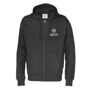 Full zip hood, Fairtrade, small print